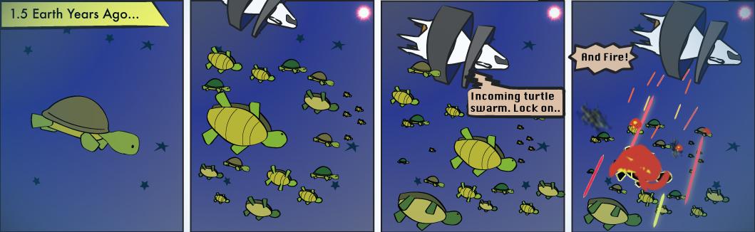 Flashback 1: Target Turtle Swarm